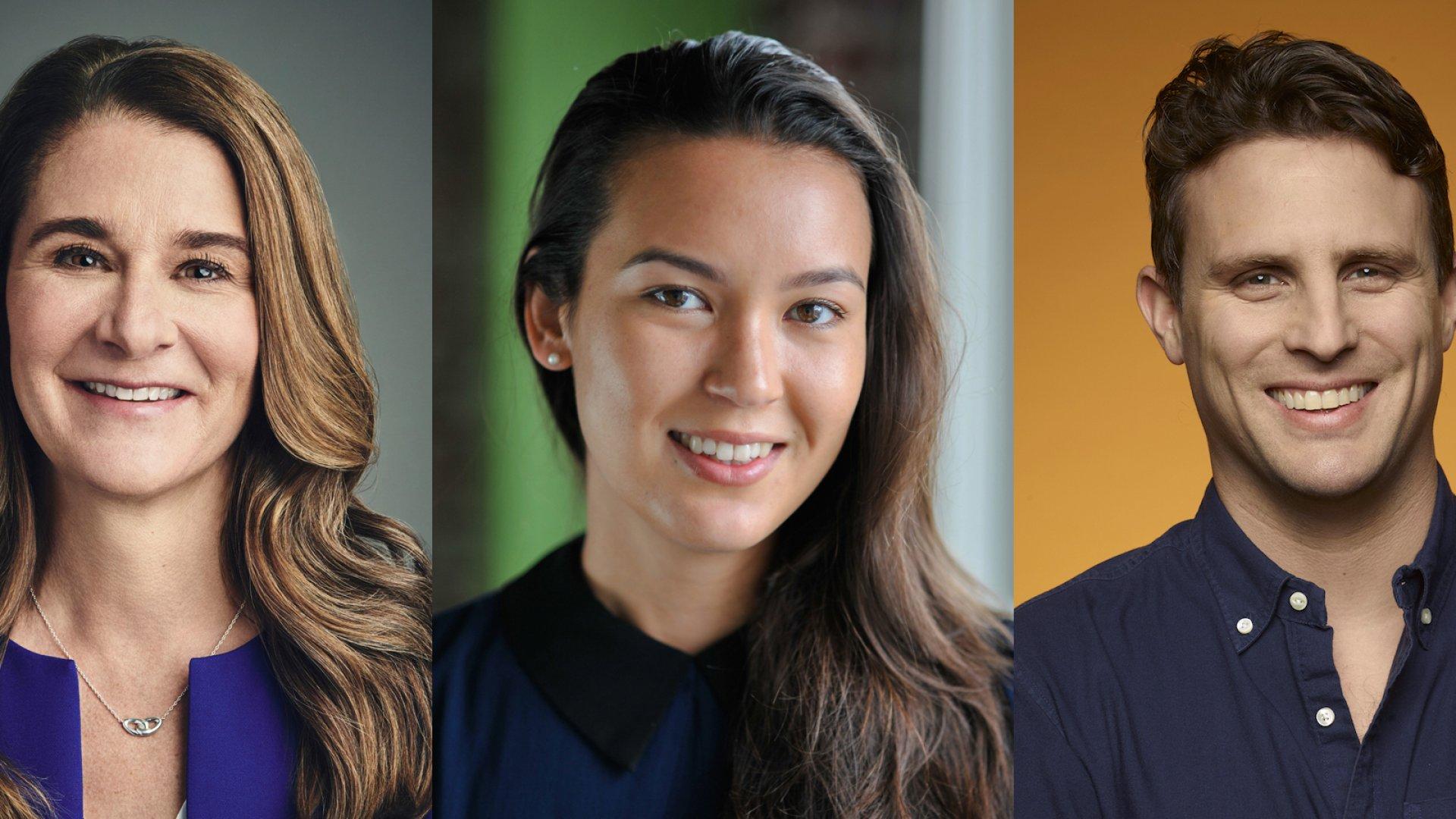 From left: Melinda Gates, Laura Behrens Wu, Michael Dubin.