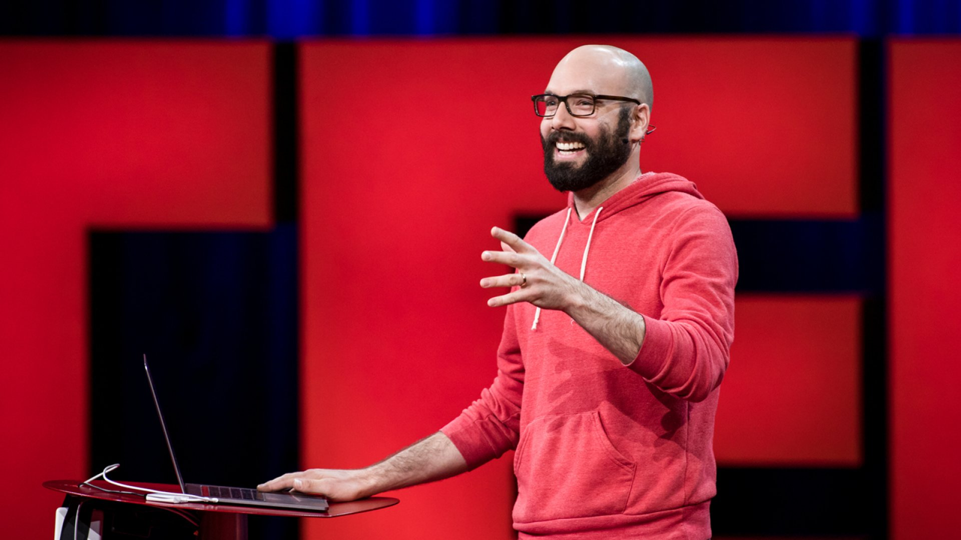 Patreon co-founder Jack Conte speaks at TED2017.