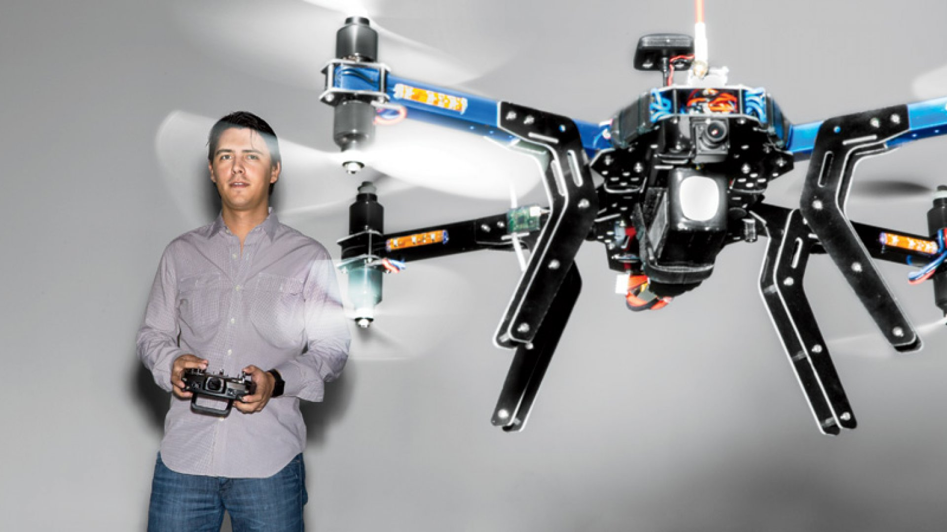 Jordi Muñoz launched 3D Robotics with former <em>Wired</em> editor in chief Chris Anderson via email, didn't finish college, wrote the first autopilot drone program, and built a factory in Mexico--all before he could legally drink a beer.  <br> <br>