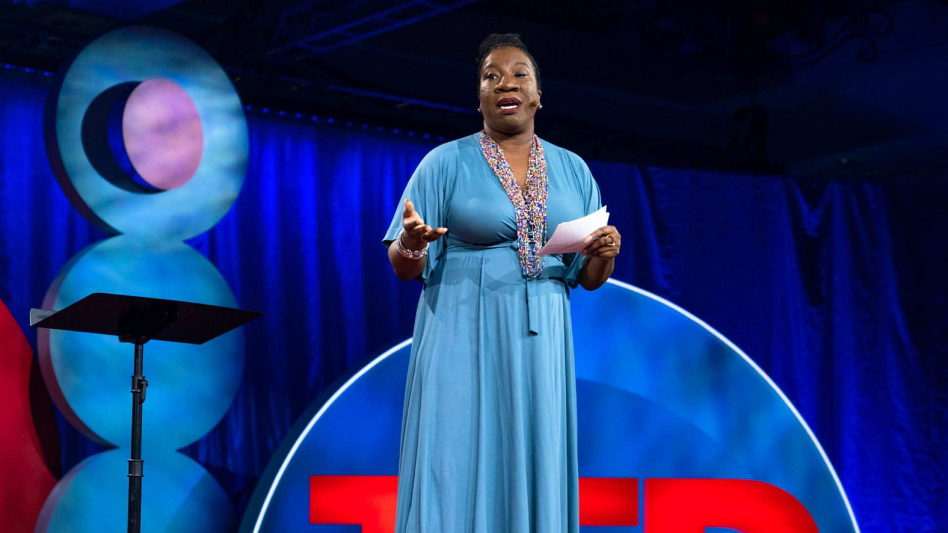 Tarana Burke at the TEDWomen conference.
