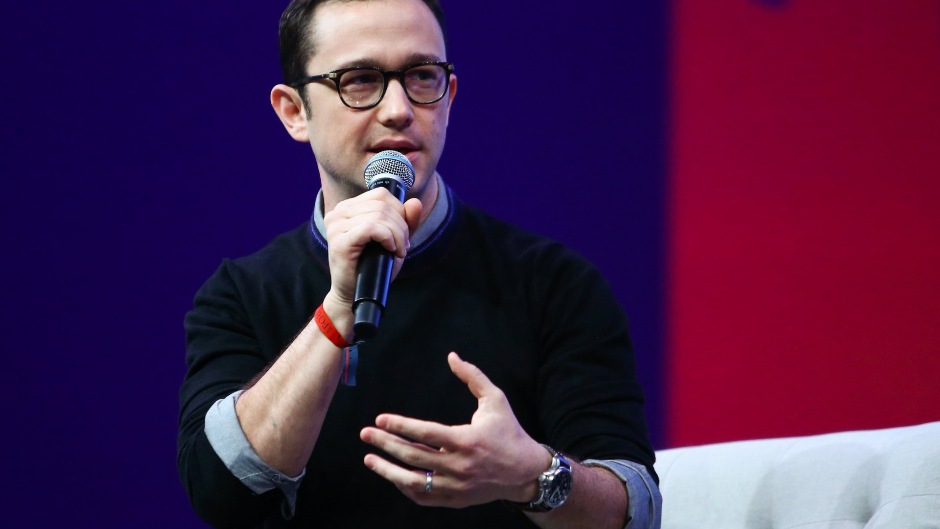 Actor, filmmaker, and entrepreneur Joseph Gordon-Levitt discusses HitRecord at the 2019 Collision Conference