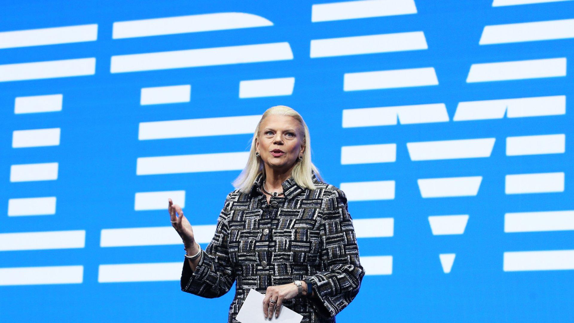 IBM Chairman, President and CEO Ginni Rometty.