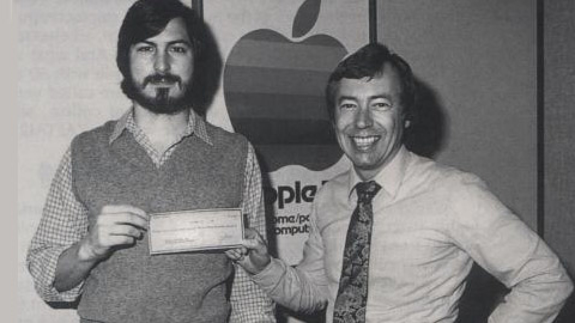 <strong>Apple Seeds:</strong> Mike Markkula, seen here with Steve Jobs in the early days, is one of the Silicon Valley pioneers interviewed in the new film <em>Something Ventured</em>.