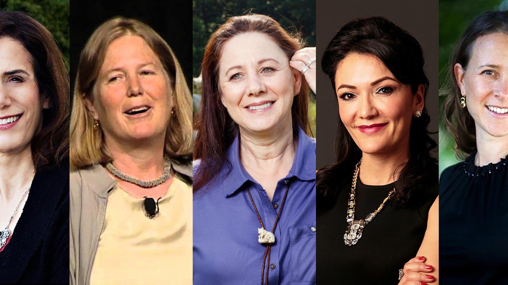 Judith Faulkner, Diane Greene, Sandy Lerner, Nina Vaca, Anne Wojcicki