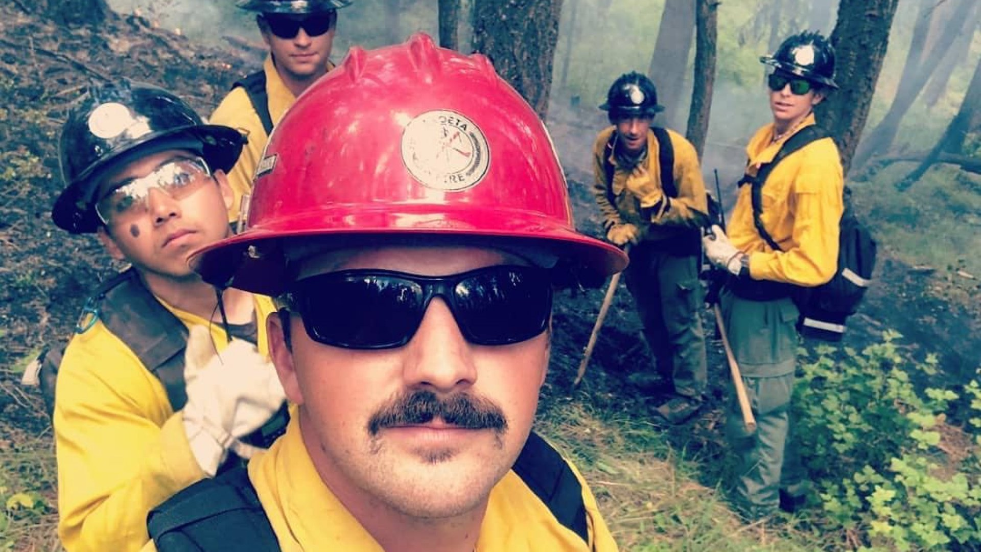 Members of the Chloeta team pictured in a fire response zone near Libby, Montana.