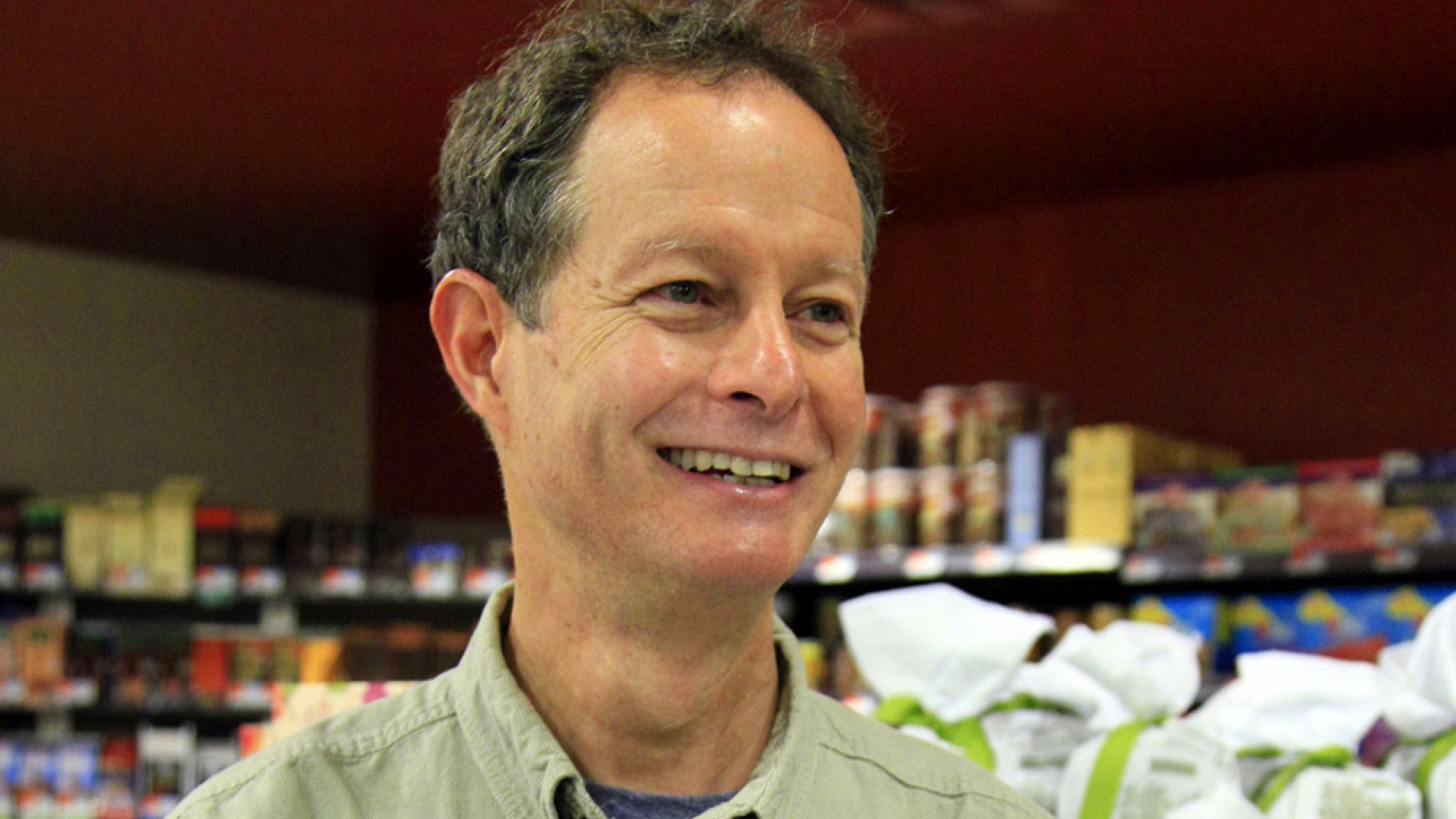 Whole Foods CEO John Mackey in one of his stores on New York's Upper West Side.