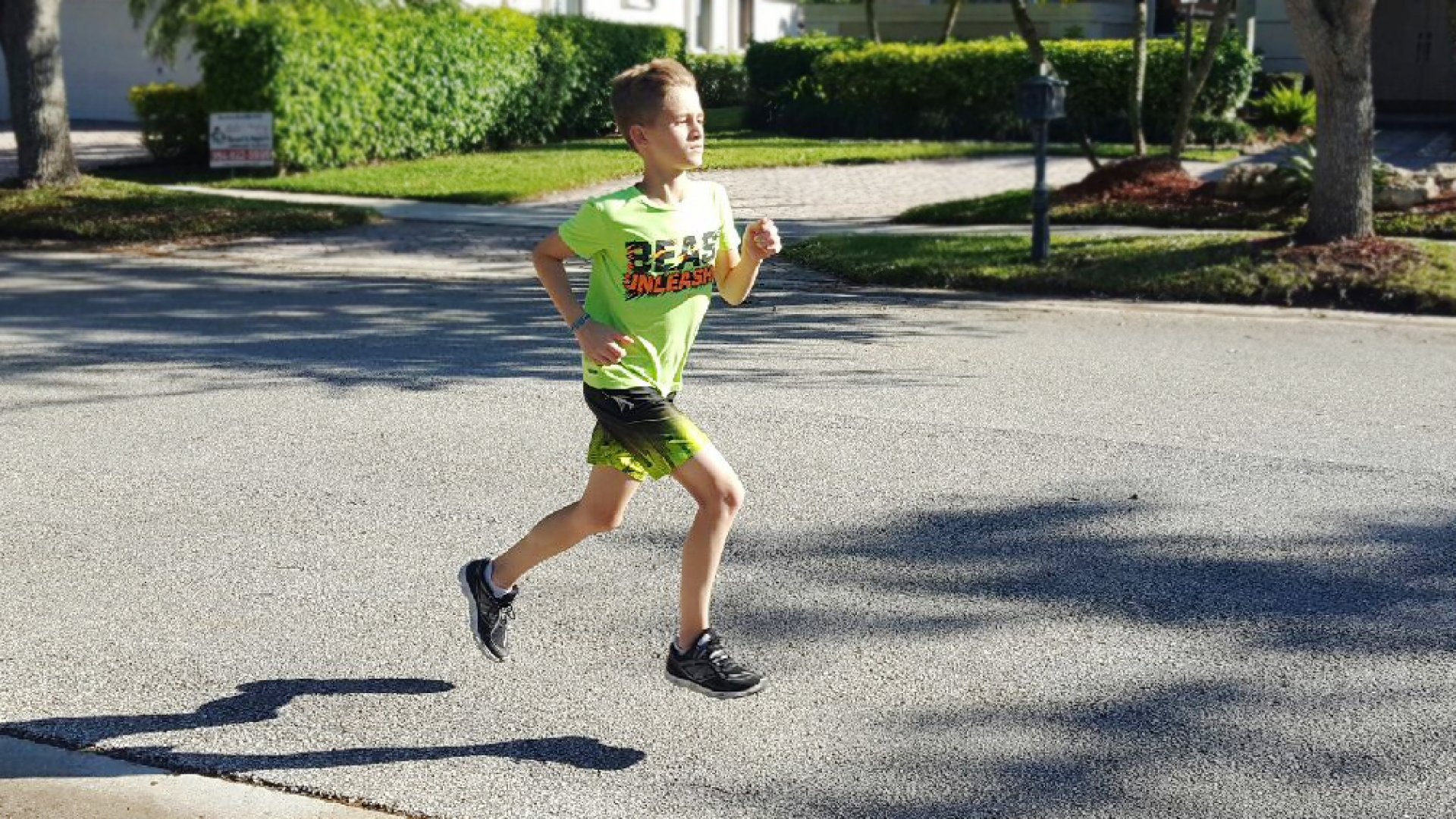 Adrian Gandara, age 11, is more than halfway through his goal of running a 5k every day for six months.
