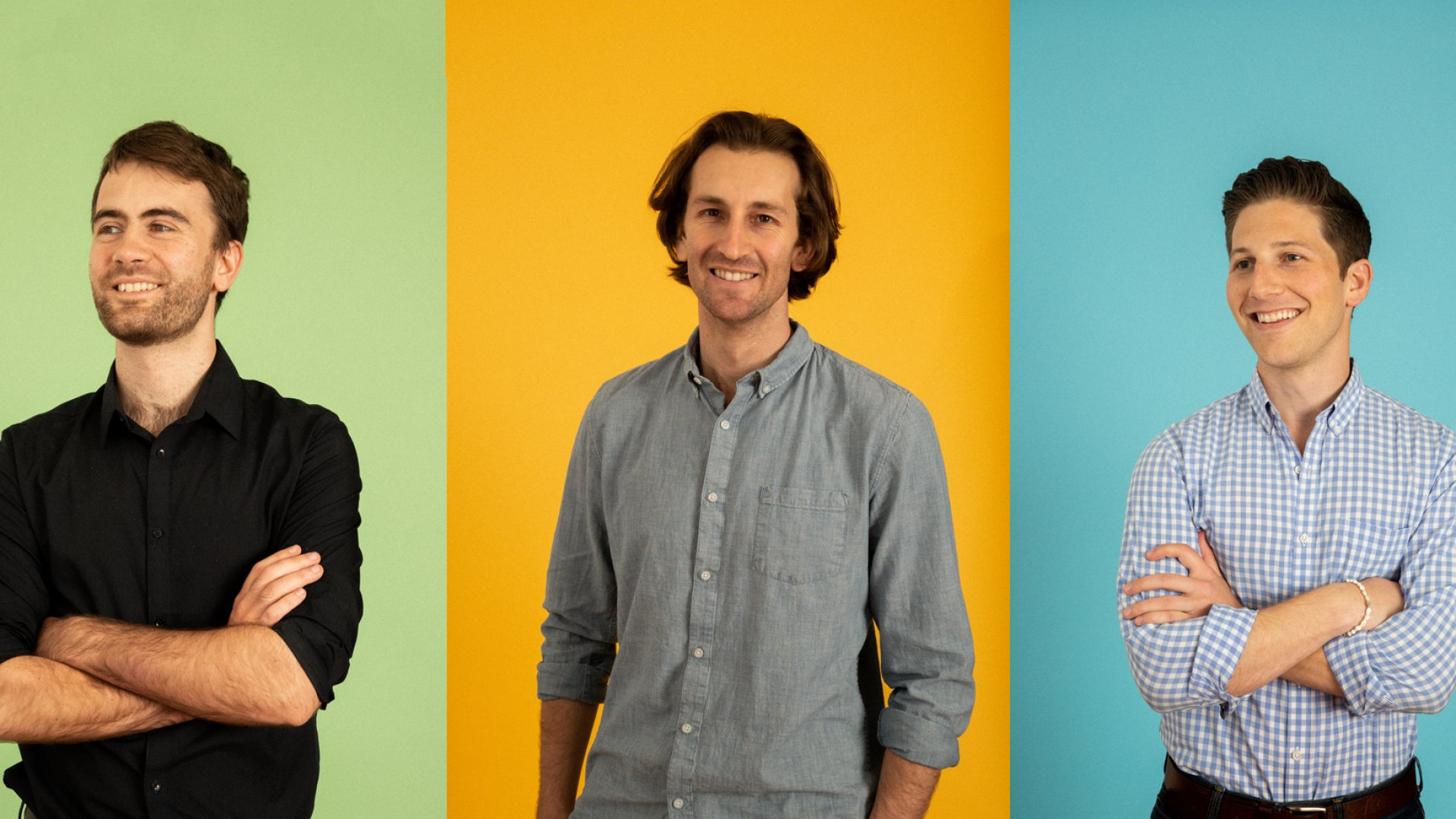 From left: Afresh co-founders Volodymyr Kuleshov, Nathan Fenner, and Matt Schwartz.