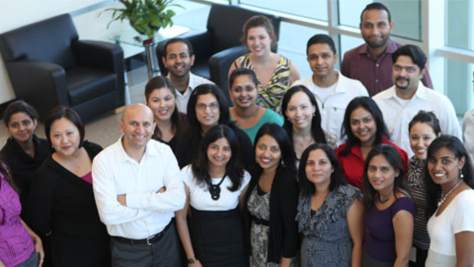 Akraya's employees gather together in its Sunnvyvale, Calif. offices.