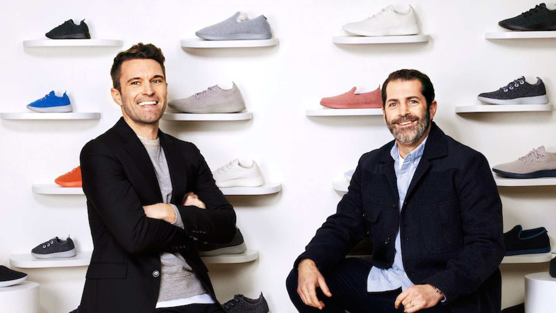 Allbirds co-founders Tim Brown (left) and Joey Zwillinger.