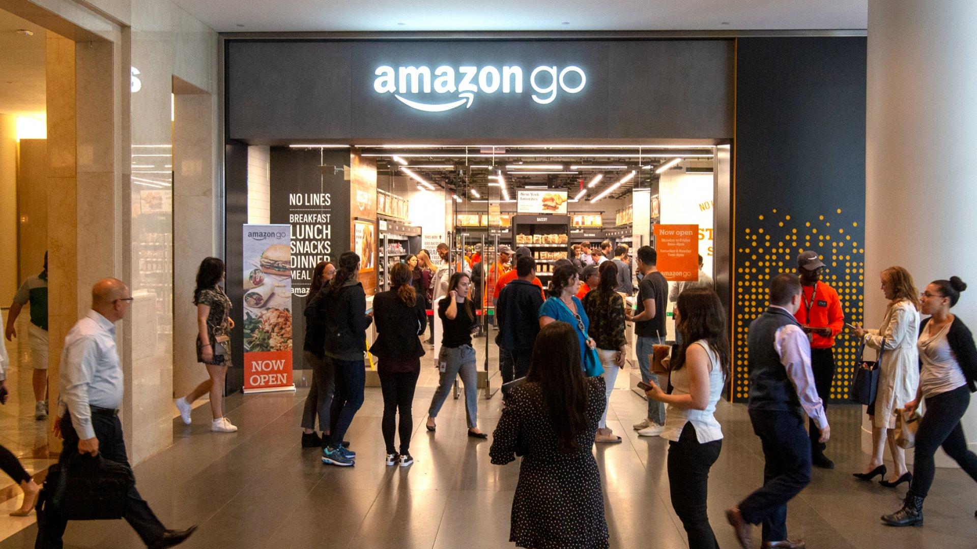 Amazon Go in New York City.
