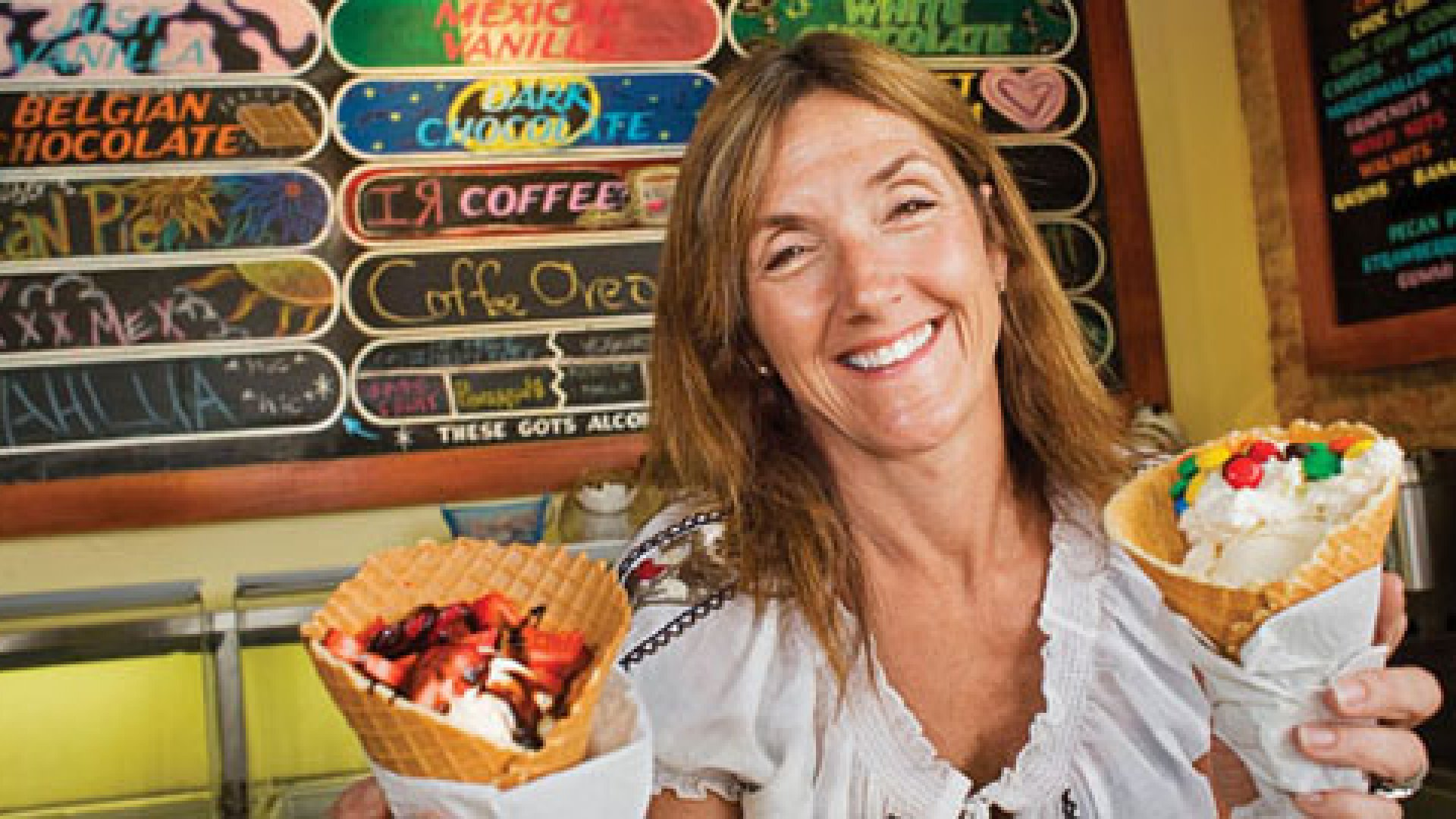 """""""Our mission is to make people's day,"""" says Amy Simmons, founder of Amy's Ice Creams."""