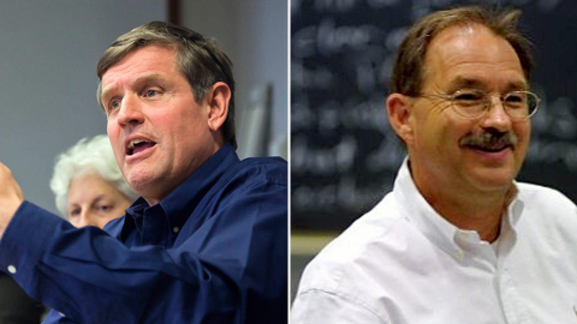 Andy Boynton (left) and Bill Fischer