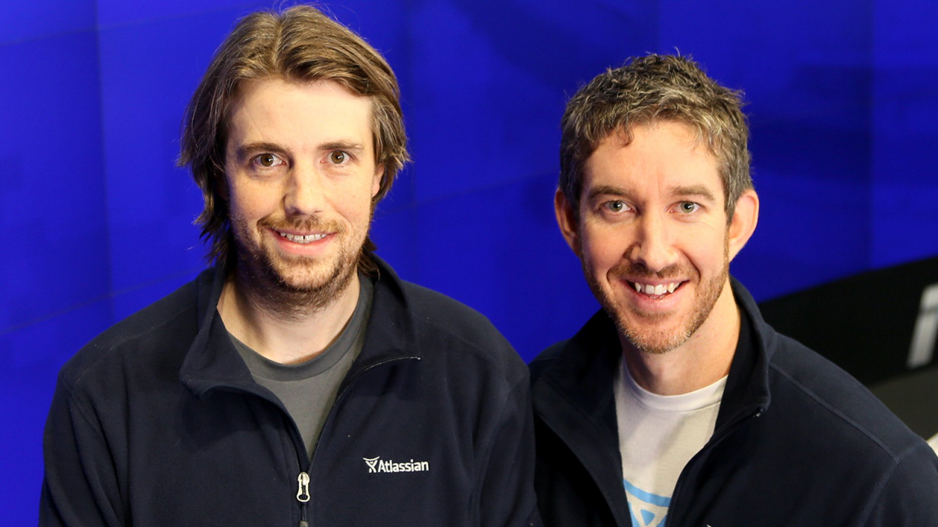 Mike Cannon-Brookes and Scott Farquhar, co-founders and co-CEOs of Atlassian.