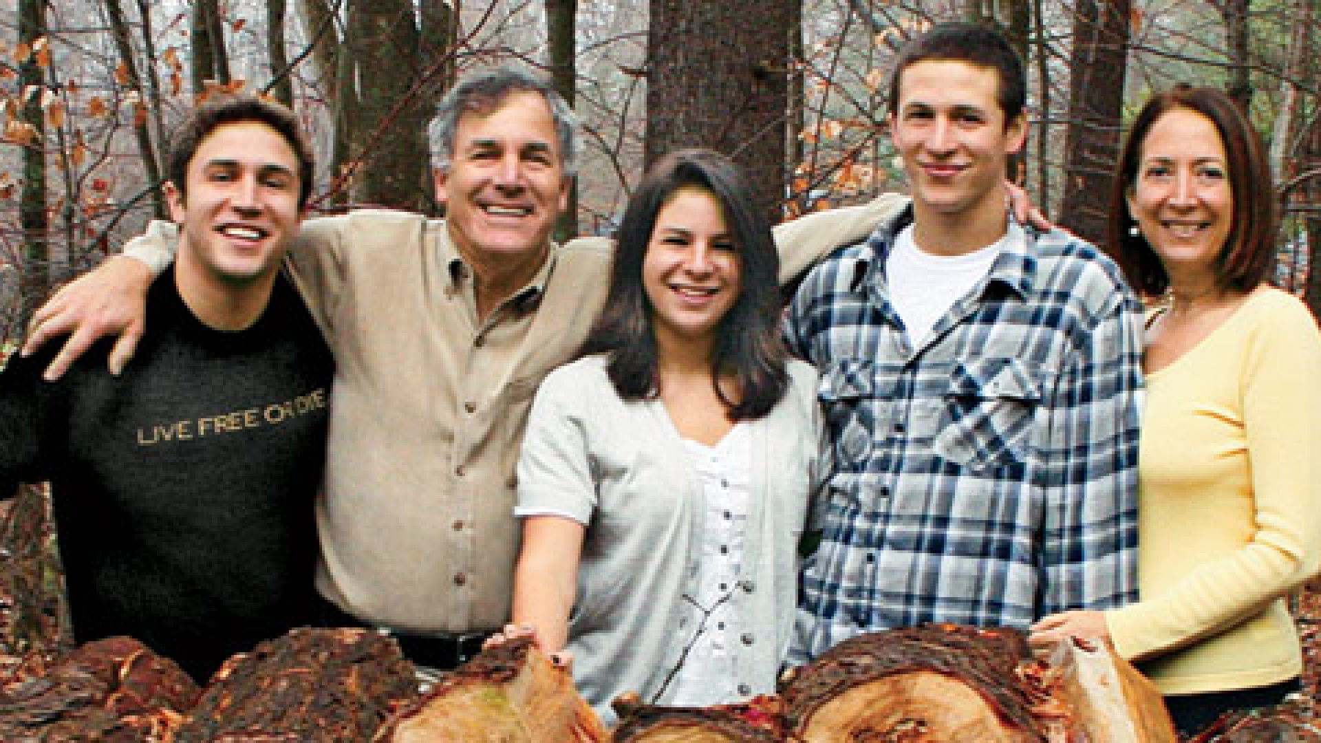 <b>All Together Now</b> The Hirshberg family at their home in New Hampshire
