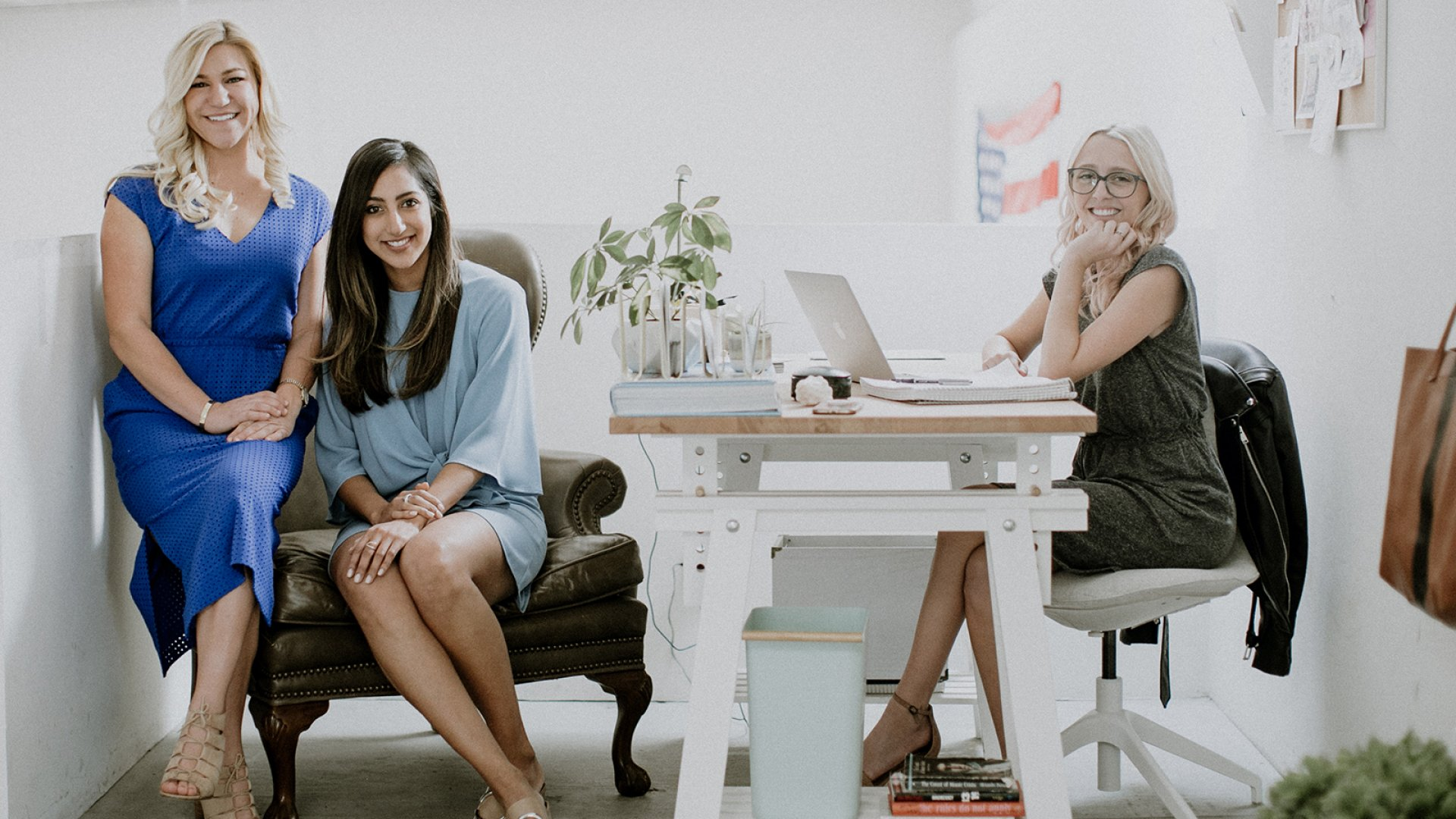 BOXFOX co-founders. Jenni Olivero (left), Sabena Suri and Chelsea Moore.