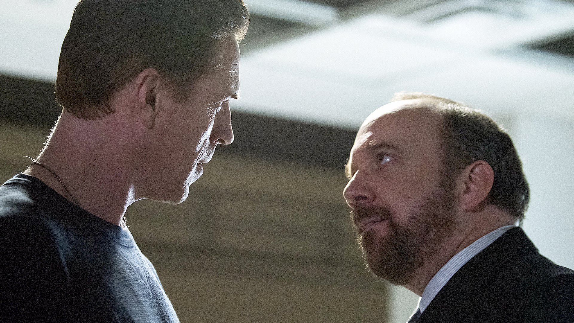 Damian Lewis and Paul Giamatti in <i>Billions</i>.