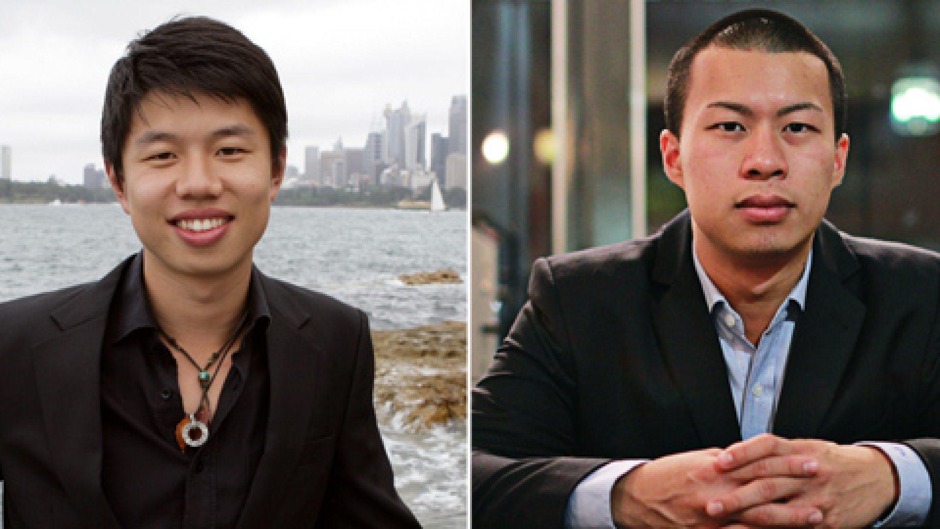 Fan Bi (left) and Danny Wong of Blank Label.