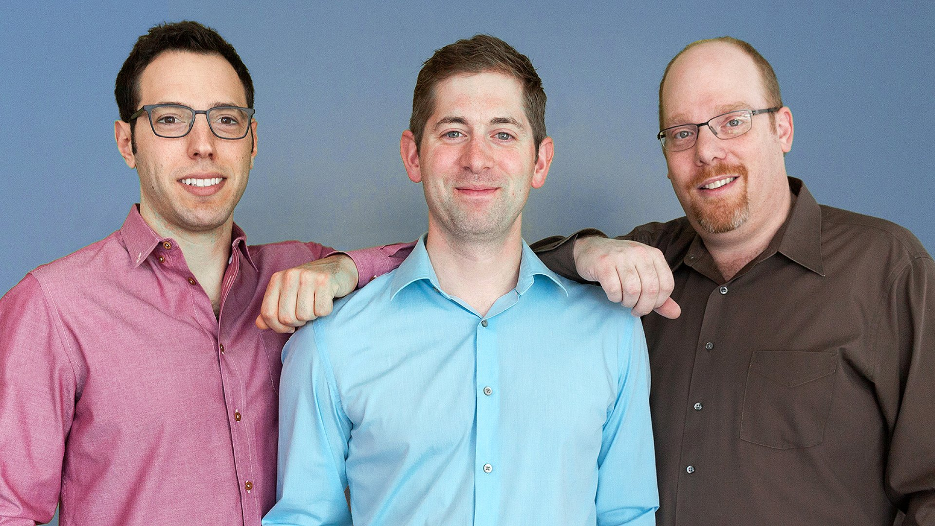 From left to right, co-founders David Breslauer, Dan Widmaier, and Ethan Mirsky.