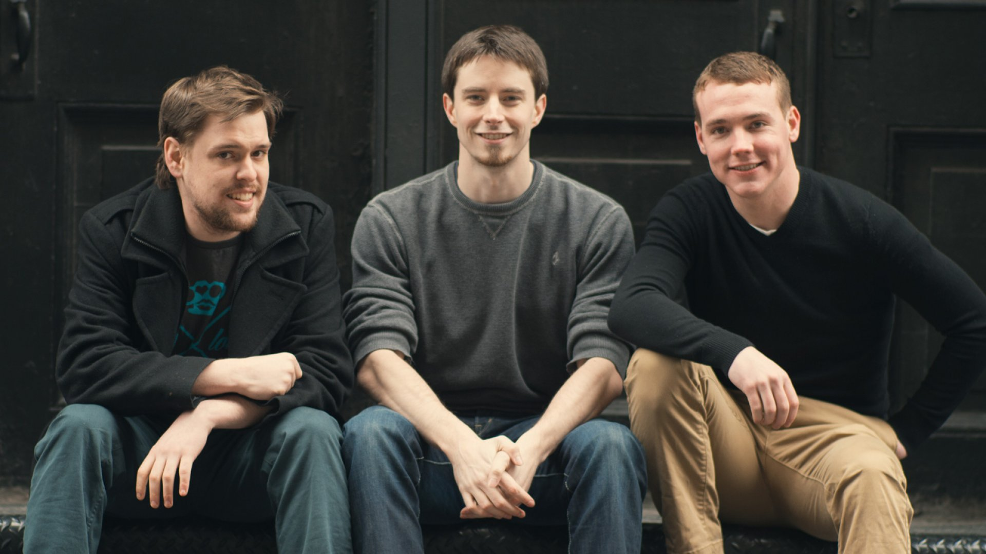 When Pete Kistler (center) went to get a job, he had some bad press from other people he needed to minimize. He, Evan Watson (left), and Patrick Ambron (right) launched BrandYourself to resolve such issues for others. <br> <br>