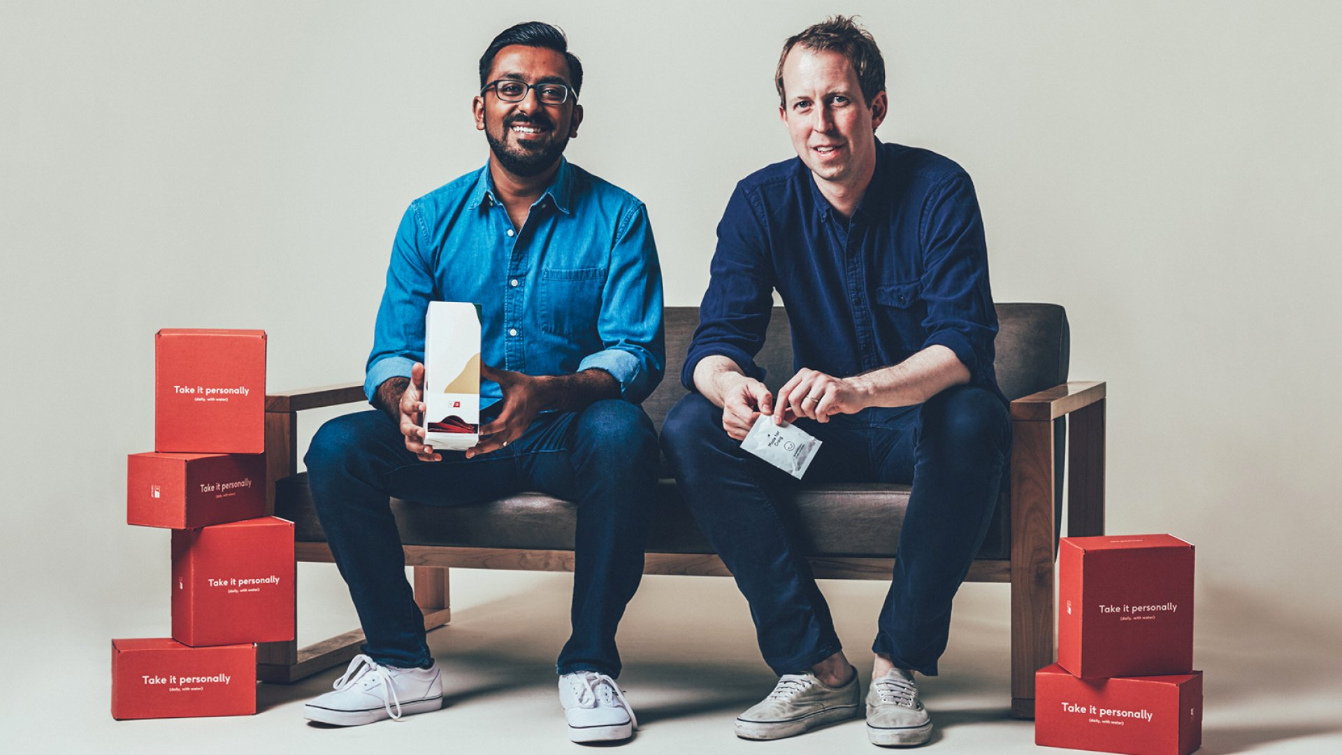 Care/of co-founders Akash Shah (left) and Craig Elbert.