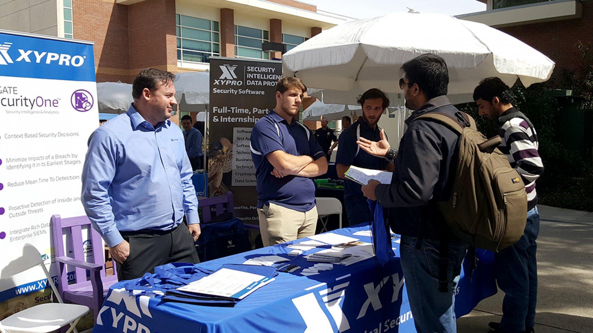 Xypro at the CLU Job Fair 2017.