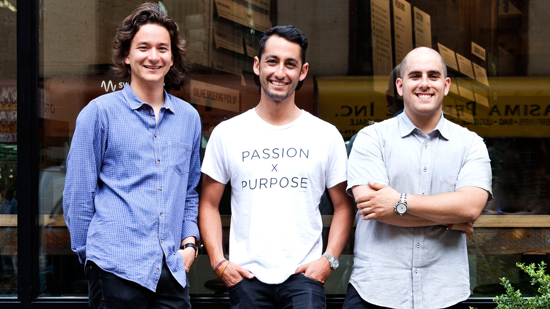 From left: Sweetgreen co-founders Nathaniel Ru, Jonathan Neman and Nicolas Jammet.