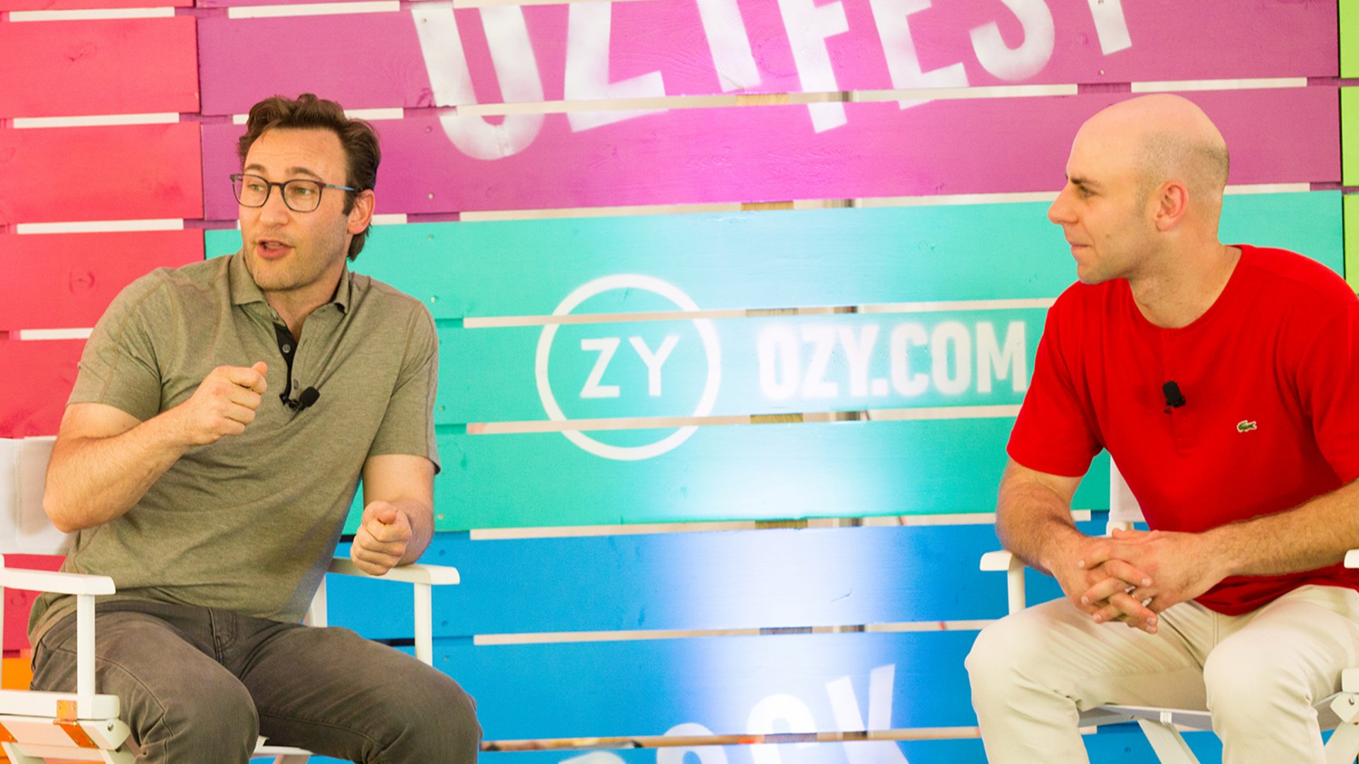 Simon Sinek and Adam Grant at OZY Fest 2017.