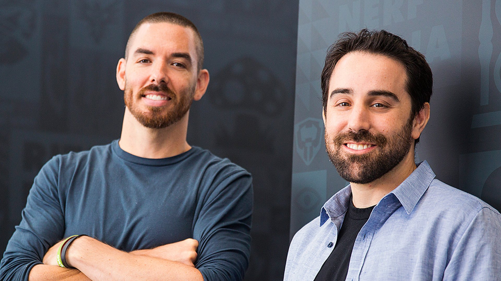 Riot Games co-founders Marc Merrill (left) and Brandon Beck.