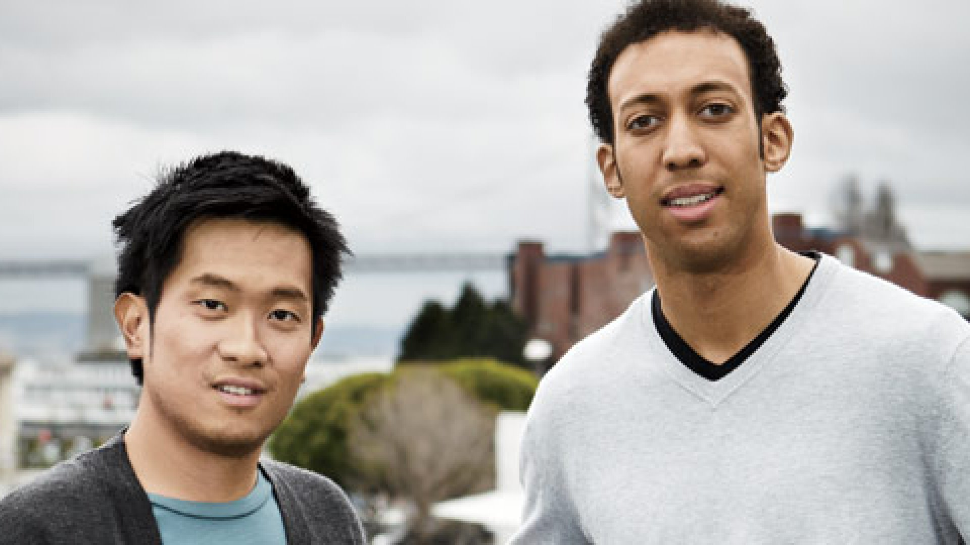 <strong>Stormy Weather </strong>Greg Tseng (left) and Johann Schleier-Smith were accused of spamming thousands of would-be customers.