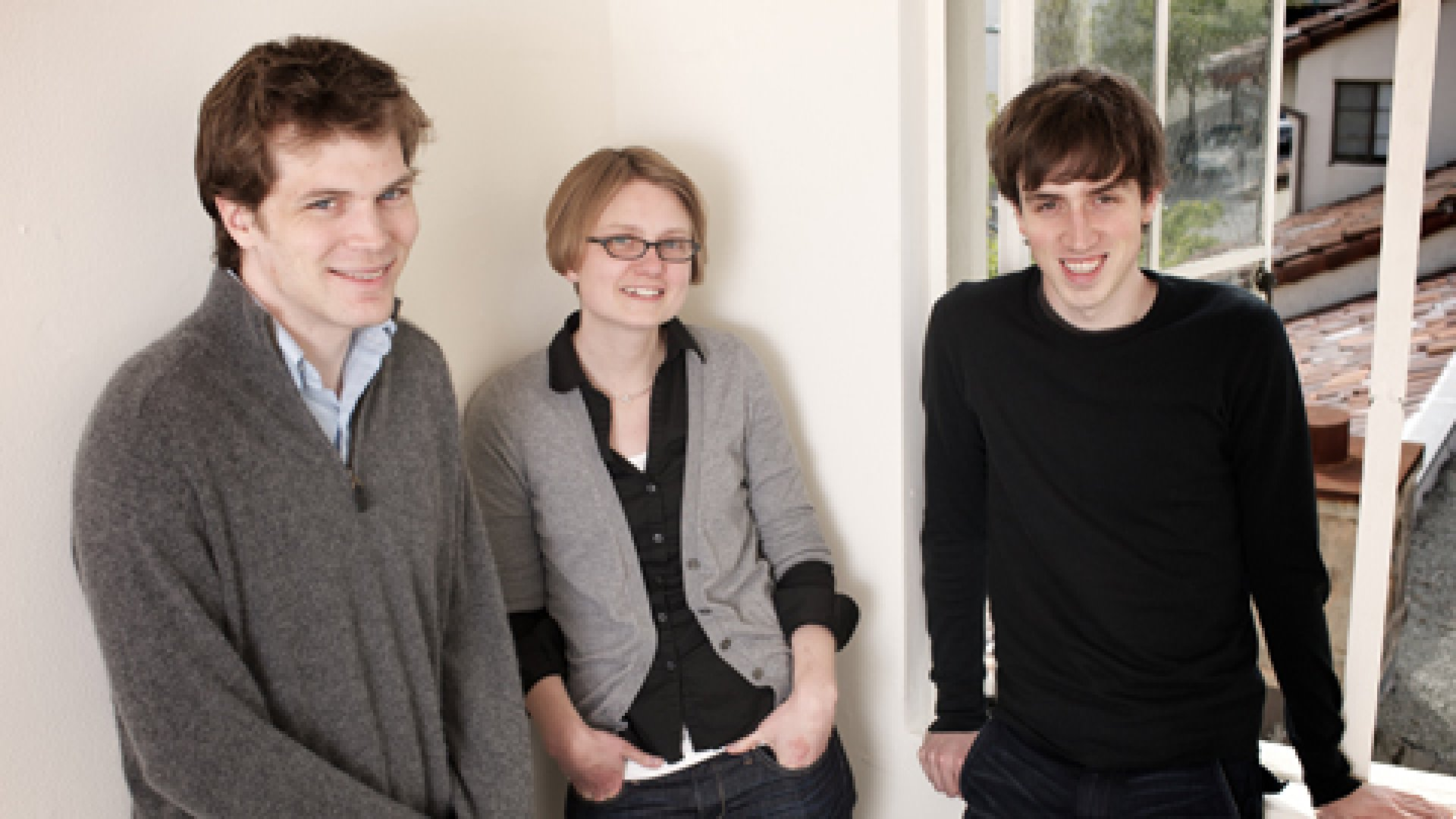 Quora leadership team, from left: Charlie Cheever, Rebekah Cox, and Adam D'Angelo.