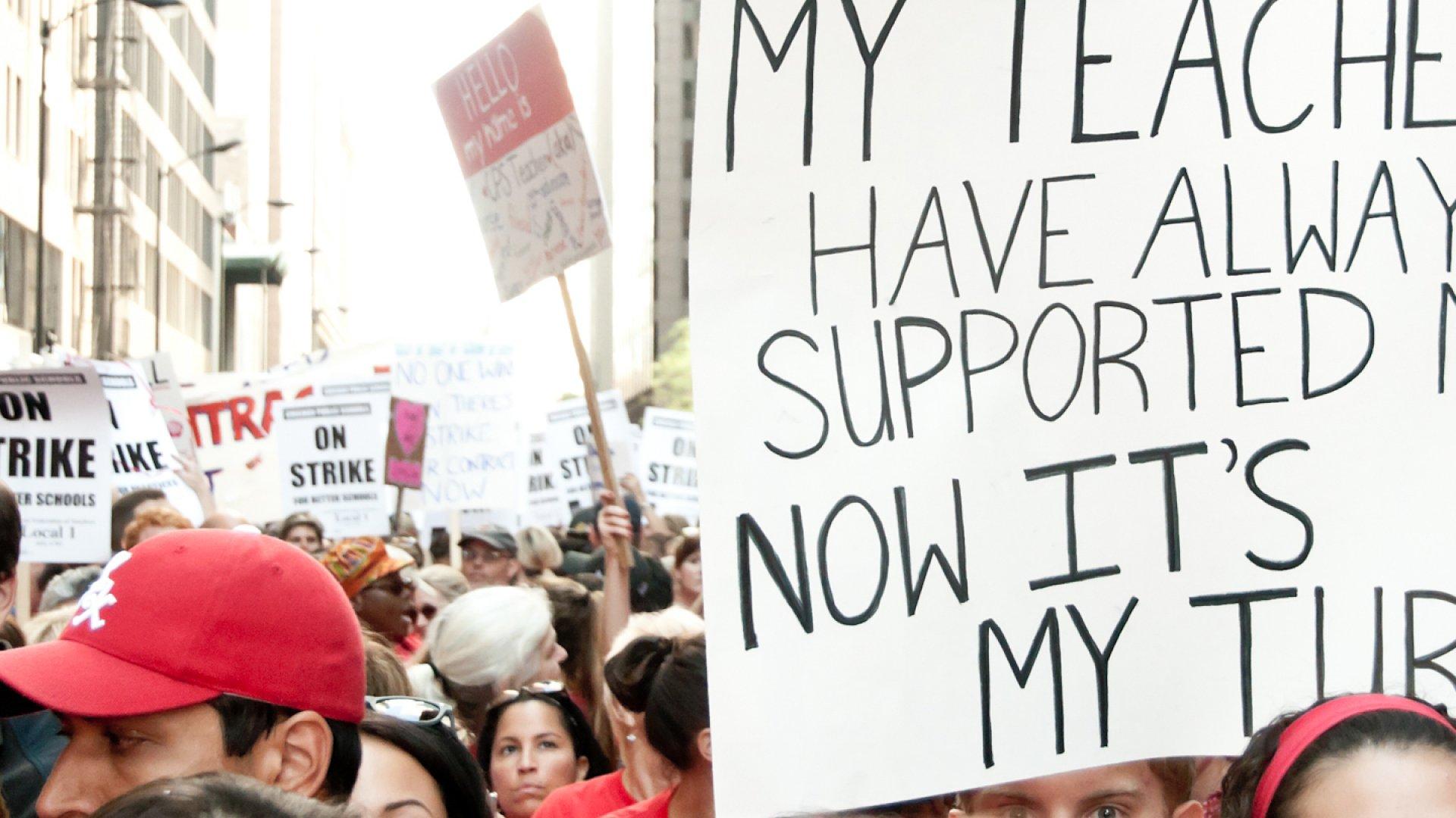 Chicago Teachers Union Strike Day 1