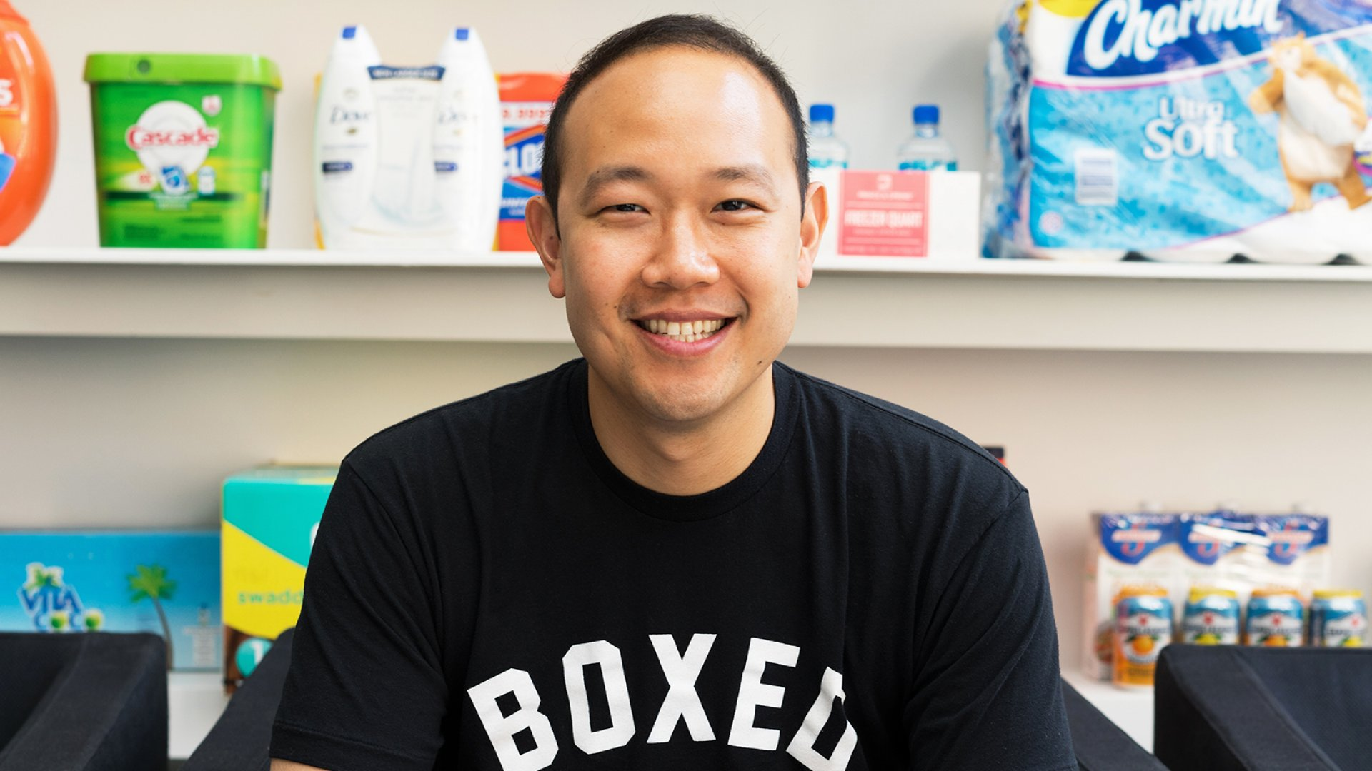 Chieh Huang, CEO of Boxed.