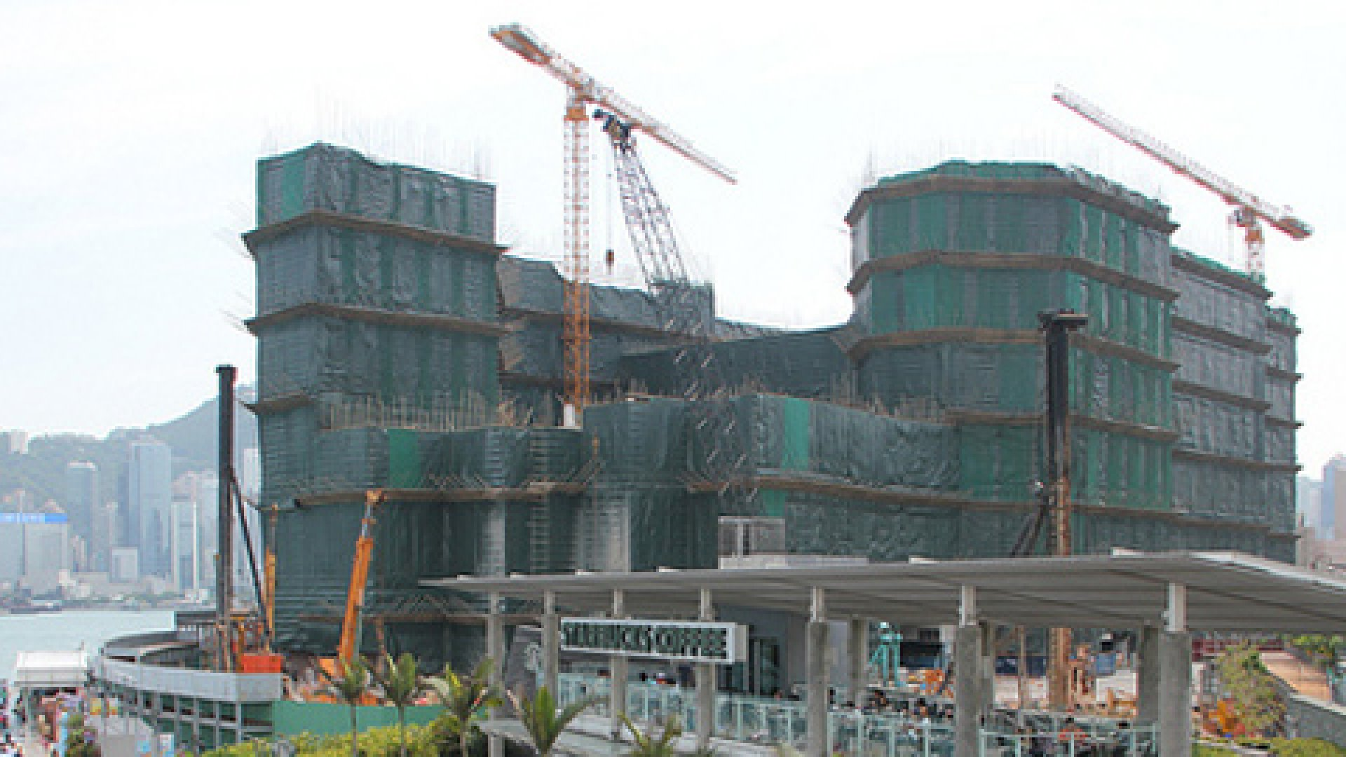 China's speculation-fueled real estate bubble dwarfs that of the U.S. circa 2005. Here, a building rises in Hong Kong.