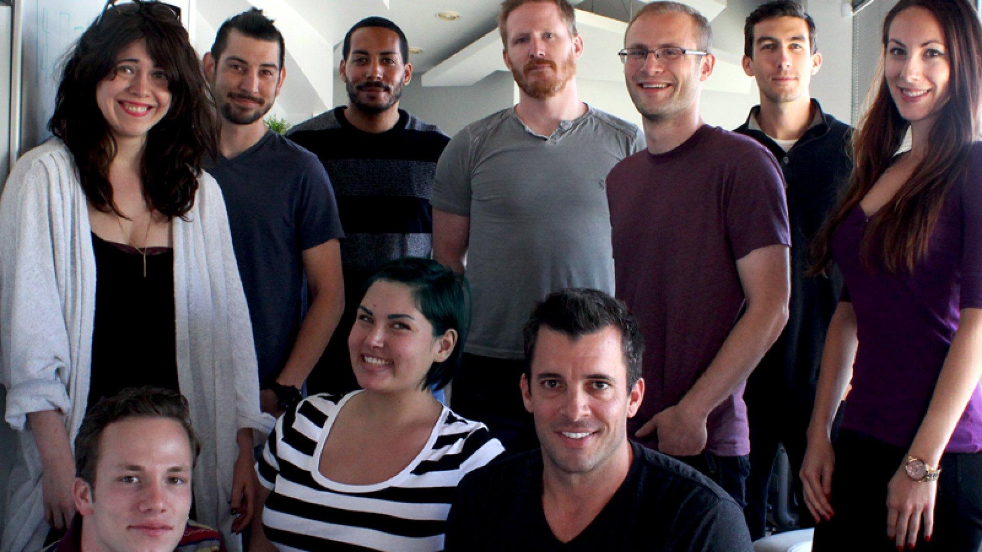 Matt Sandler (third from right) is the founder music-education startup Chromatik.