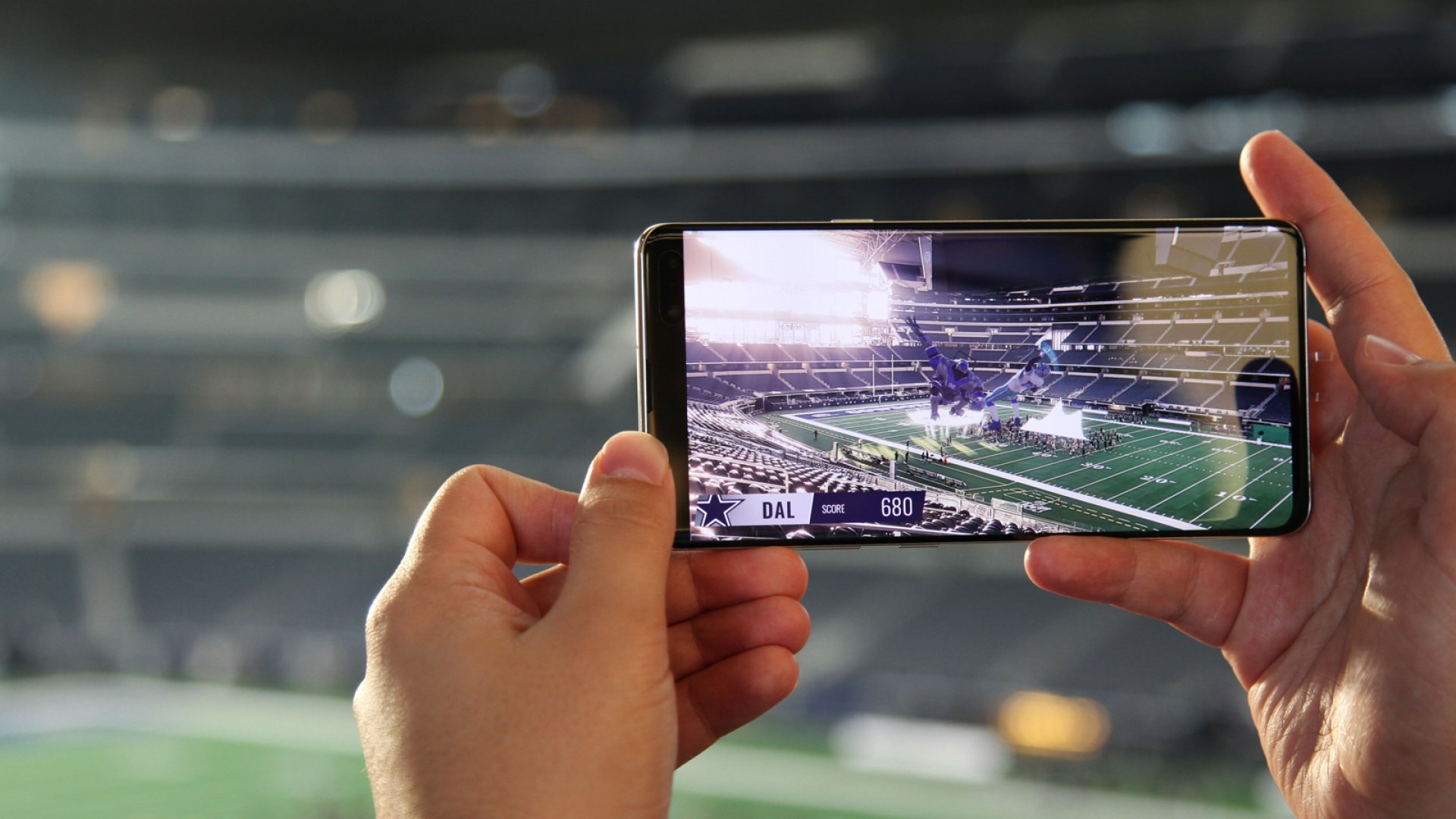 Augmented Reality can enhance the live stadium experience with stats and commentary.