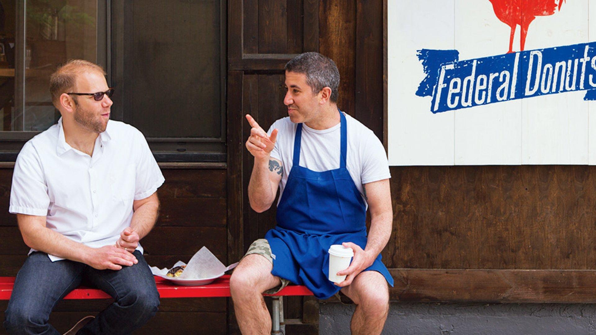 CookNSolo co-founder Michael Solomonov (right).