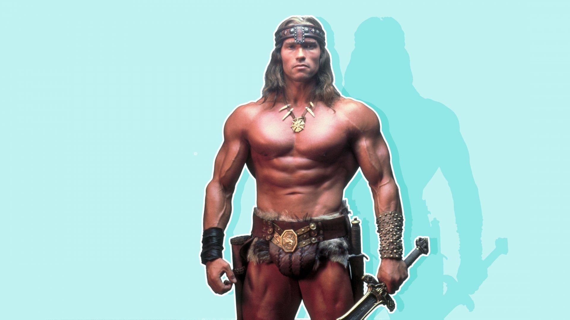 """Arnold Schwarzenegger in the movie """"Conan the Barbarian."""""""