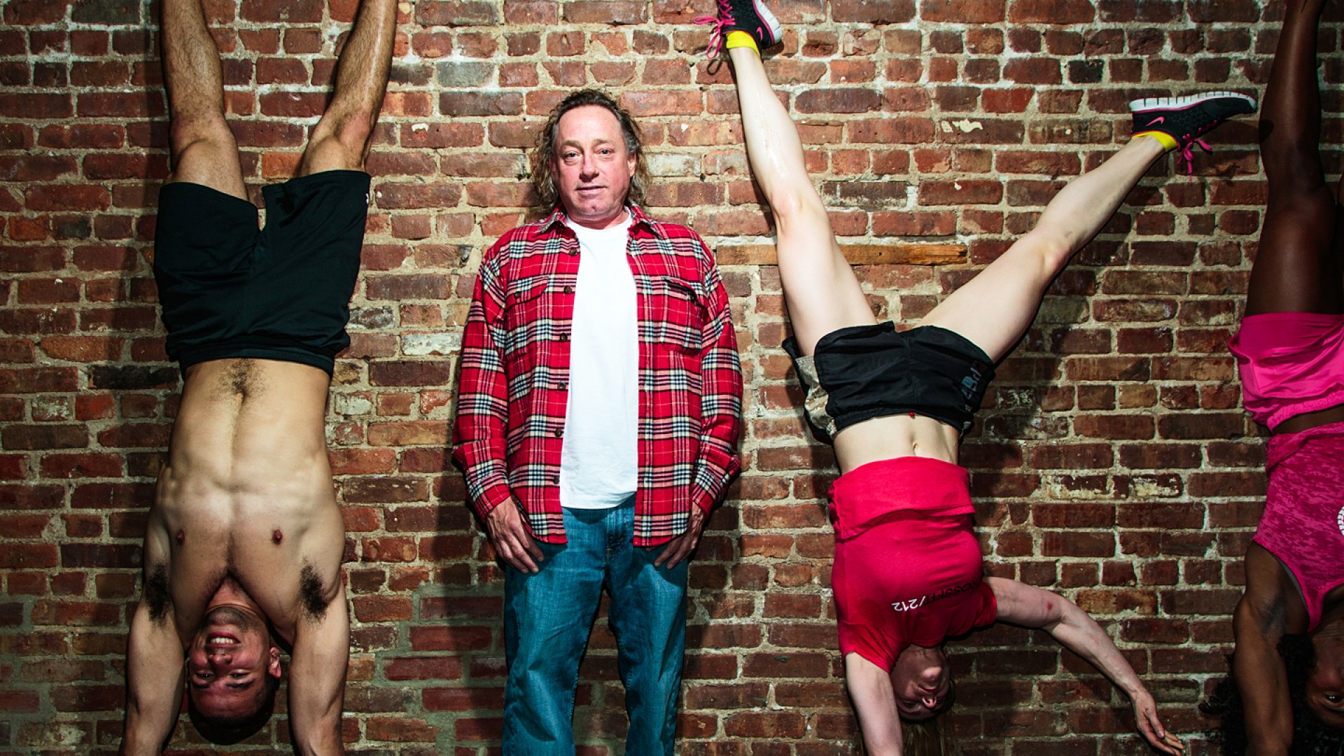 Greg Glassman, inventor of the CrossFit fitness system, at an affiliate gym in New York City