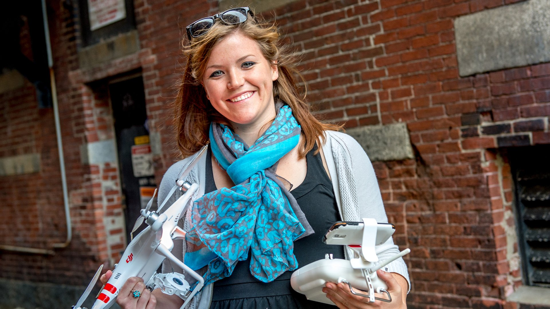 Abby Speicher, CEO and founder of DARTdrones.