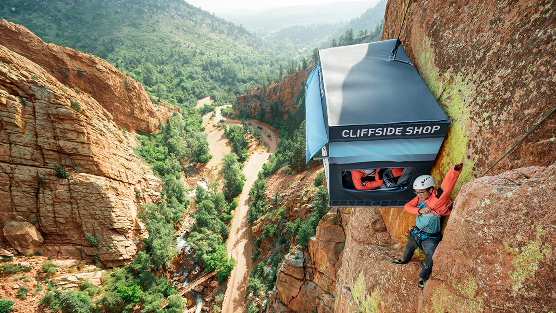 Talk About Tough Customers: These People Climbed 300 Feet to Reach a Store