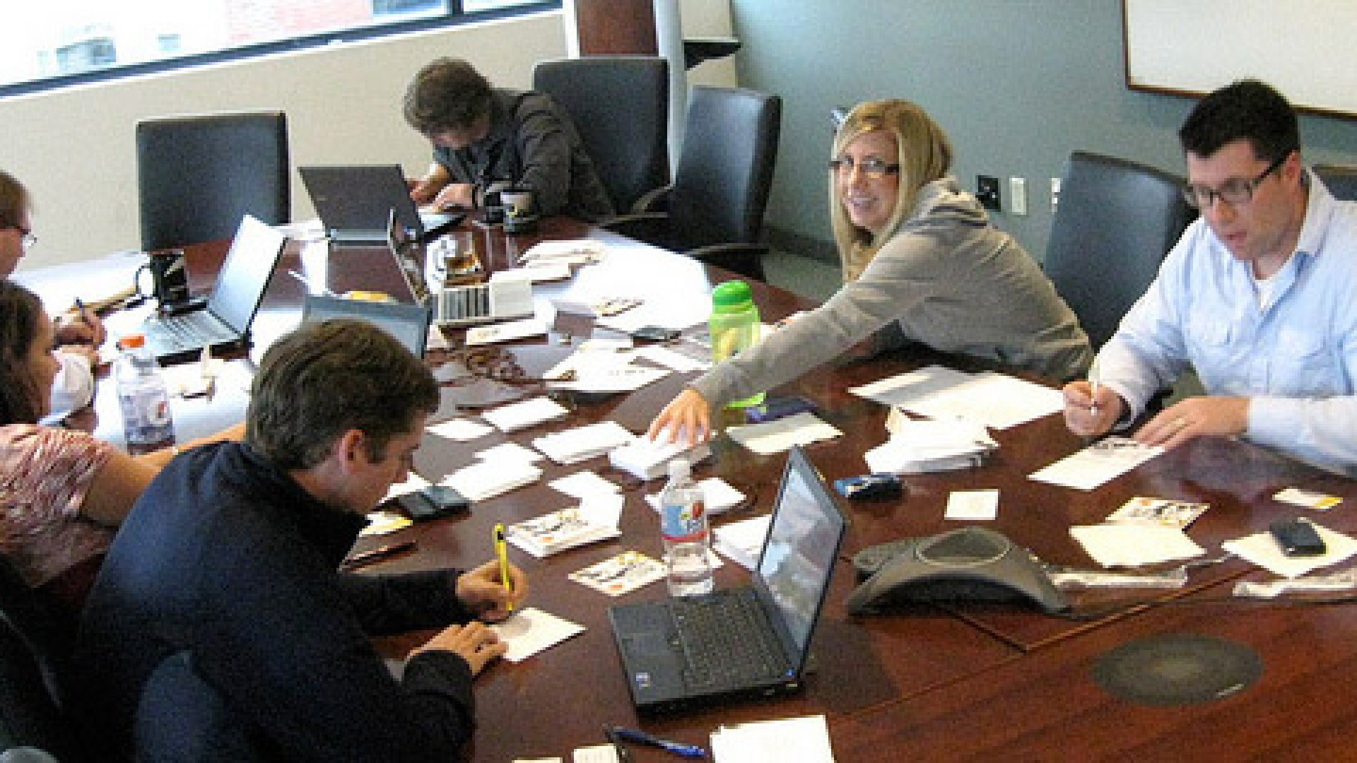 Collaboration is key. Here, the DYN team is busy at work in the Manchester, N.H. office.