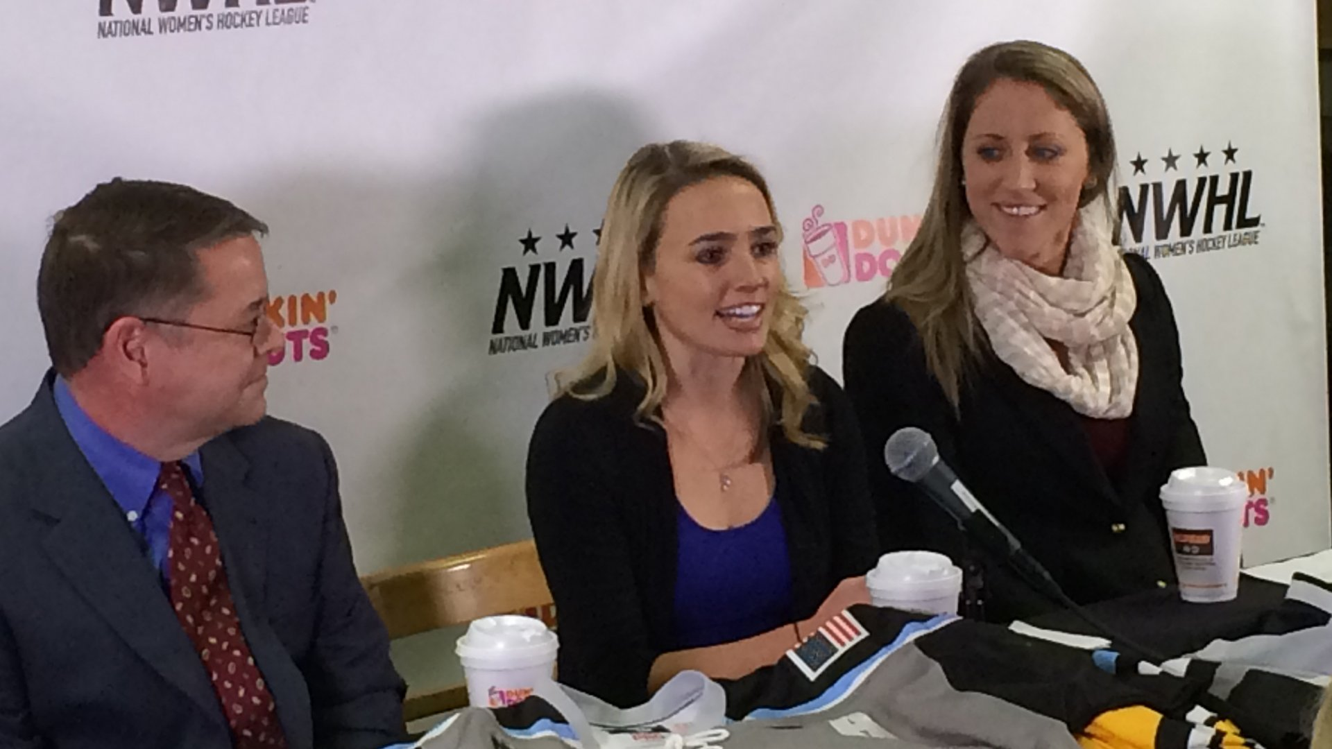 Dunkin Donuts skates in as the first corporate sponsor of the NWHL.