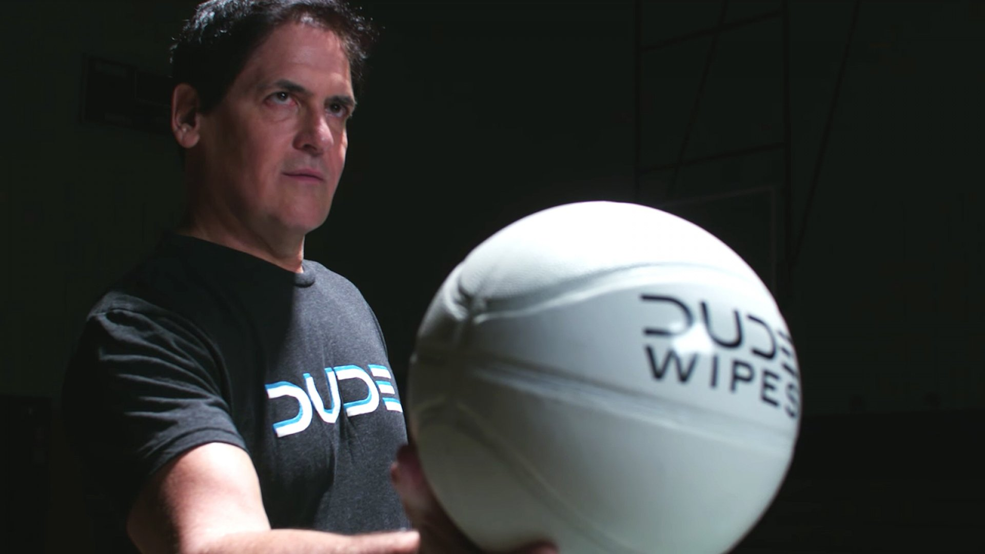 <i>Shark Tank's</i> Mark Cuban appears in a DUDE Wipes commercial.