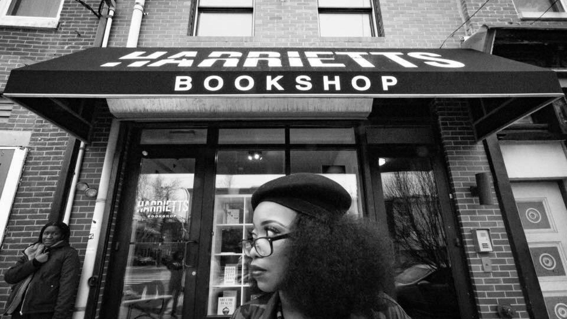 Harriett's Bookshop owner Jeannine Cook.