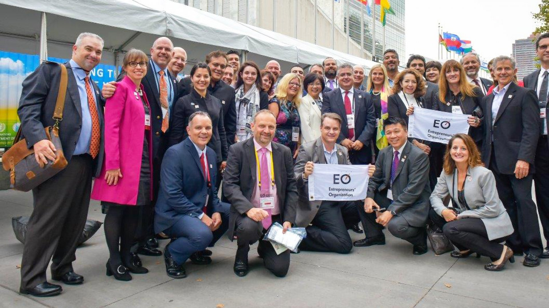 Entrepreneurs' Organization members and staff gathered in New York on 19 September to witness the organization's formal announcement in support of the UN's Sustainable Development Goals.