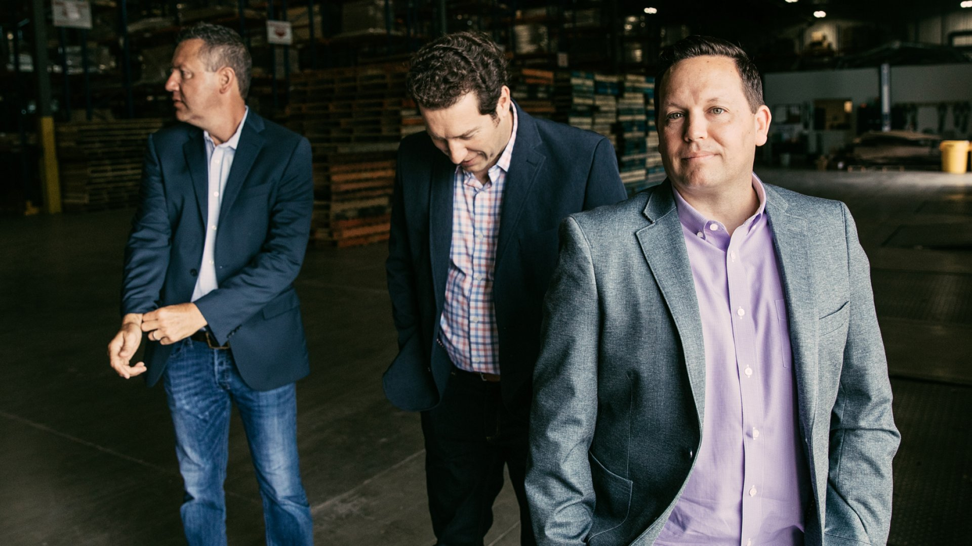 From left: Alex Rustioni, EVP of sales at Freightwise, Richard Hoehn, CIO, and Chris Cochran, CEO and co-founder.
