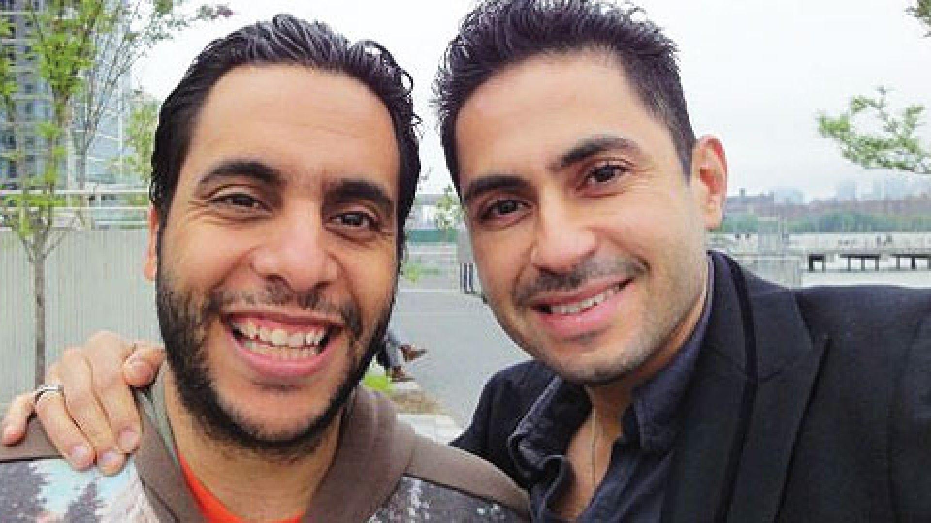 Farid Ali and George Constantinou, owners of Bogota Latin Bistro in Brooklyn.