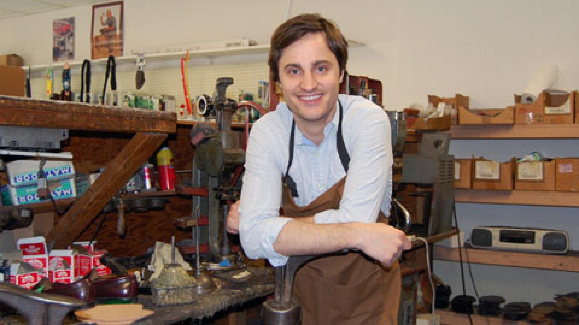George Vlagos in his workshop.