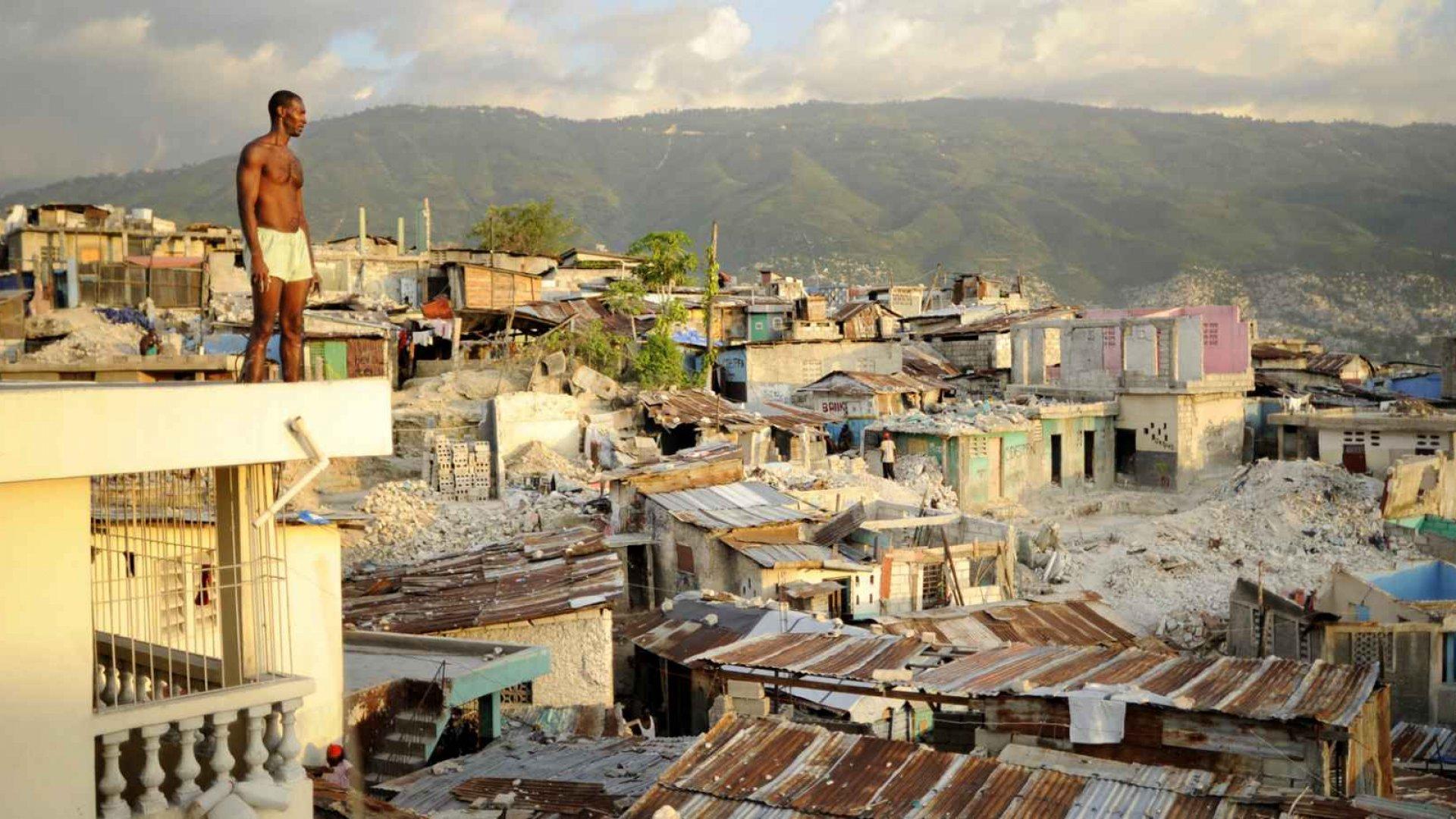 Port-Au-Prince six months after the earthquake.